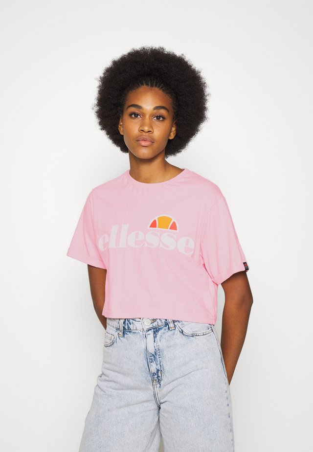 ALBERTA CROP  - T-shirt z nadrukiem - light pink