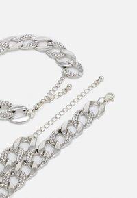 Urban Classics - BASIC NECKLACE AND BRACELET SET - Kaulakoru - silver-coloured - 1