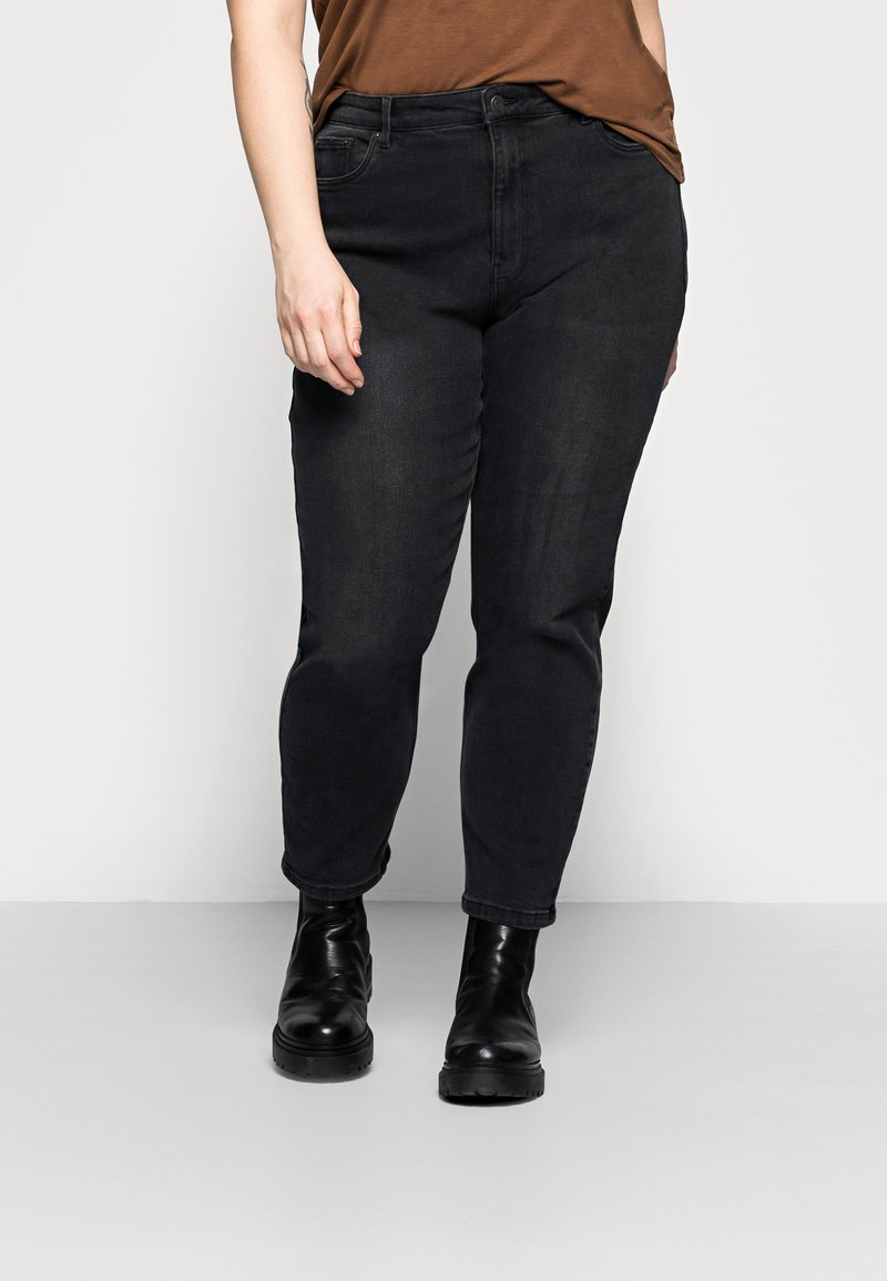 Vero Moda Curve - VMJOANA MOM - Relaxed fit jeans - black