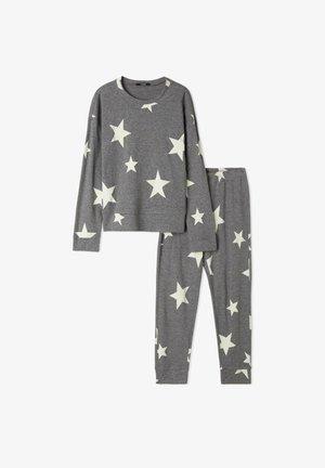 MIT STERNENPRINT - Pyjama set - grau charcoal grey blend star print