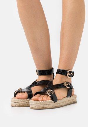 WIDE FIT KOENA - Platform sandals - black
