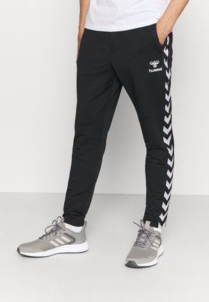 NATHAN 2.0 TAPERED PANTS - Tracksuit bottoms - black