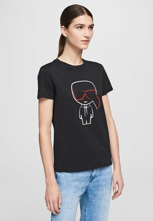 OUTLINE  - Print T-shirt - black