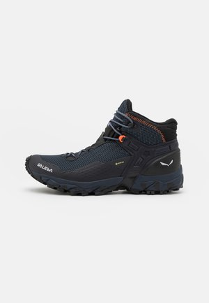 ULTRA FLEX 2 MID GTX - Hiking shoes - black out/red orange