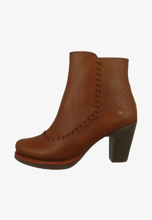 ELEGANTE GRAN VIA - High heeled ankle boots - cuero