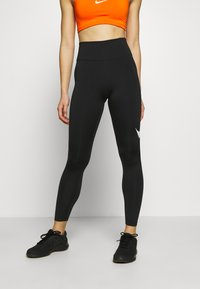 Nike Performance - SWOOSH-RUNNING TIGHT  - Tights - black/reflective silver - 0