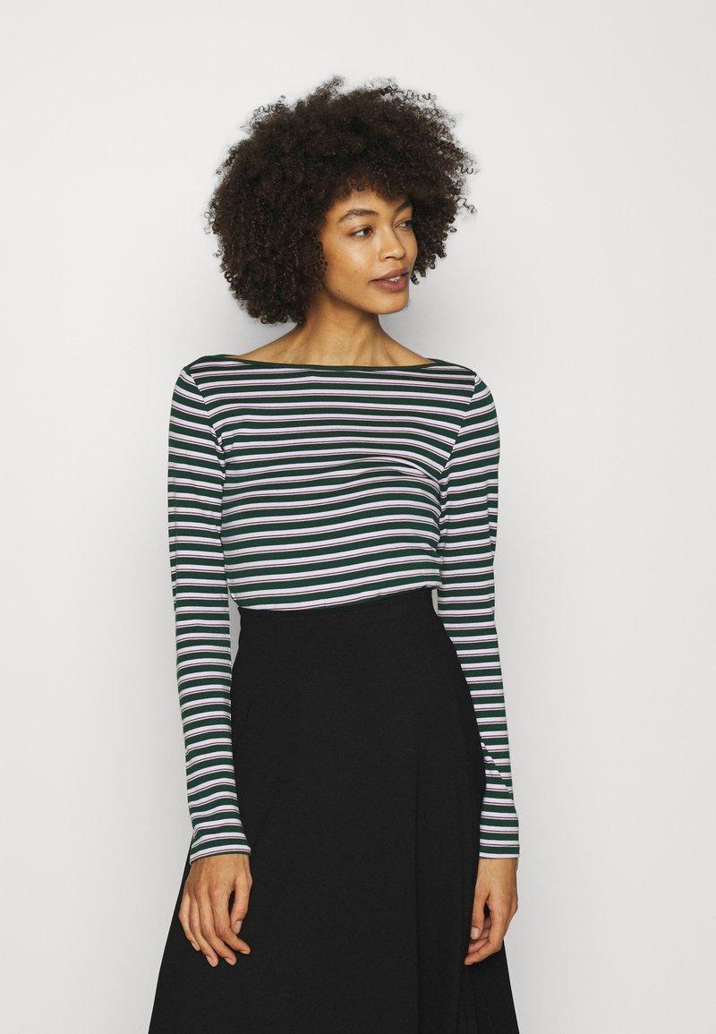 GAP - BATEAU - Long sleeved top - green stripe