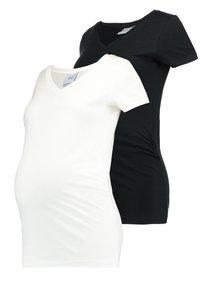MAMALICIOUS - MLANNIA 2 PACK  - Basic T-shirt - black/snow white - 0