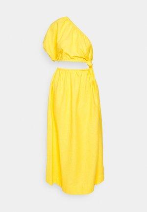 OPEN WAIST MIDI DRESS - Vestito estivo - yellow