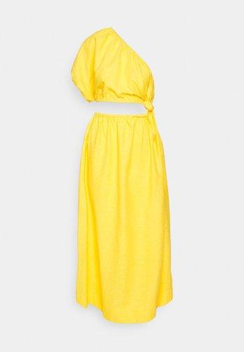 OPEN WAIST MIDI DRESS - Day dress - yellow