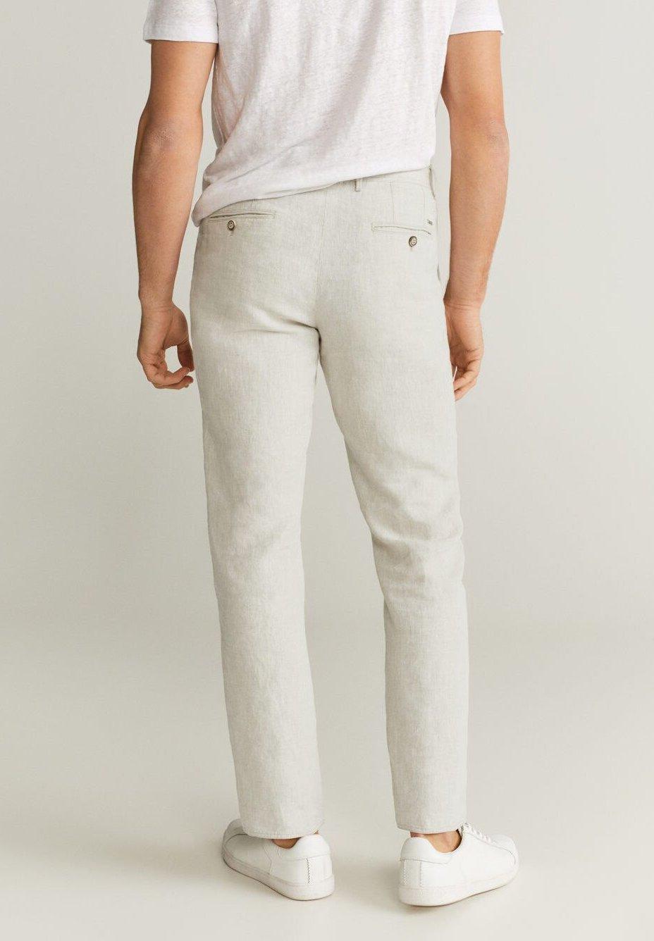 Mango OYSTER - Trousers - ecru X3l7p