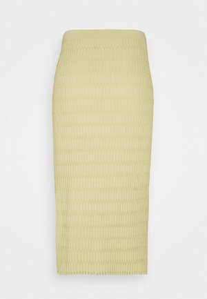 SKIRT - Pencil skirt - beige/green