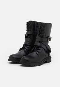 Friboo - LEATHER - Lace-up boots - black - 3