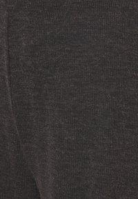 Even&Odd - WIDE LEG RIBBED TROUSERS - Kalhoty - mottled dark grey - 2