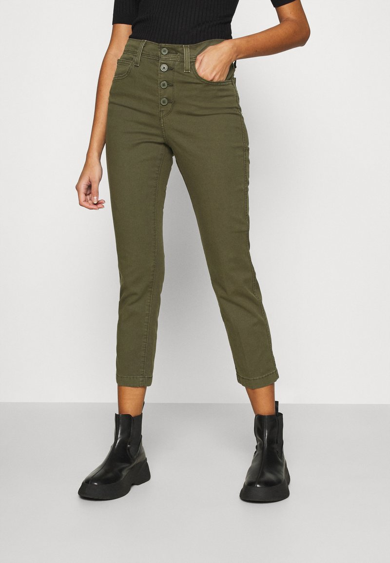 Levi's® - 724 HR STR CROP UTILITY - Pantalones - olive night