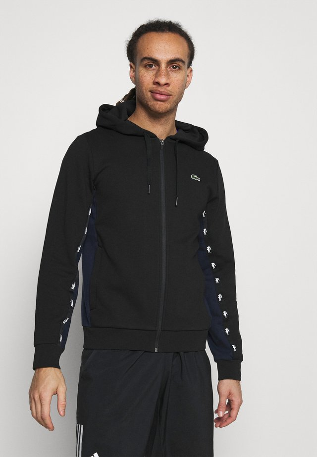 veste en sweat zippée - black/navy blue