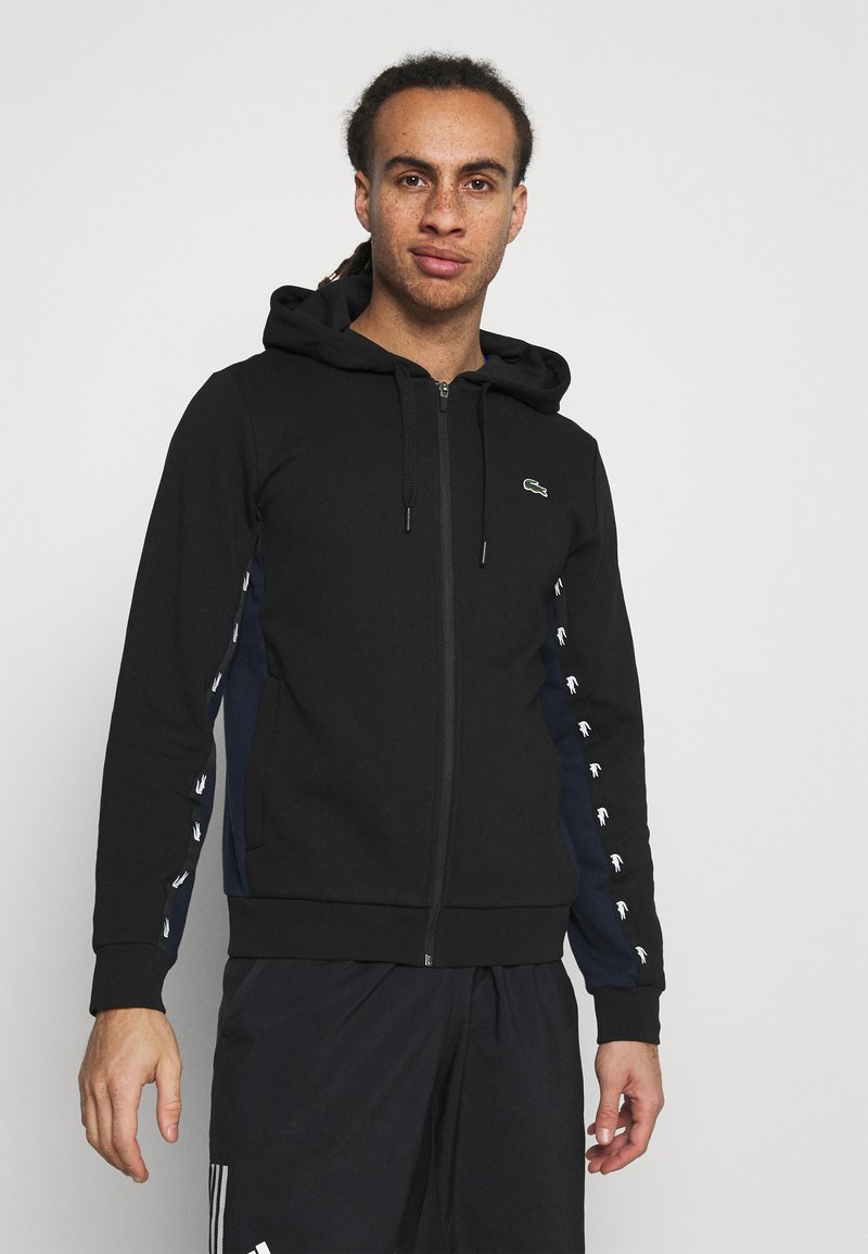 Lacoste Sport - TAPERED - Hoodie - black/navy blue