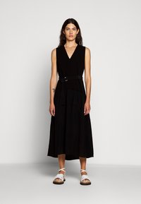 3.1 Phillip Lim - V NECK TANK DRESS SHIRRED SKIRT - Day dress - black - 0