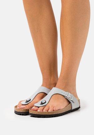 GIZEH - T-bar sandals - alloy
