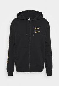 Nike Sportswear - HOODIE - Sudadera con cremallera - black/gold - 5