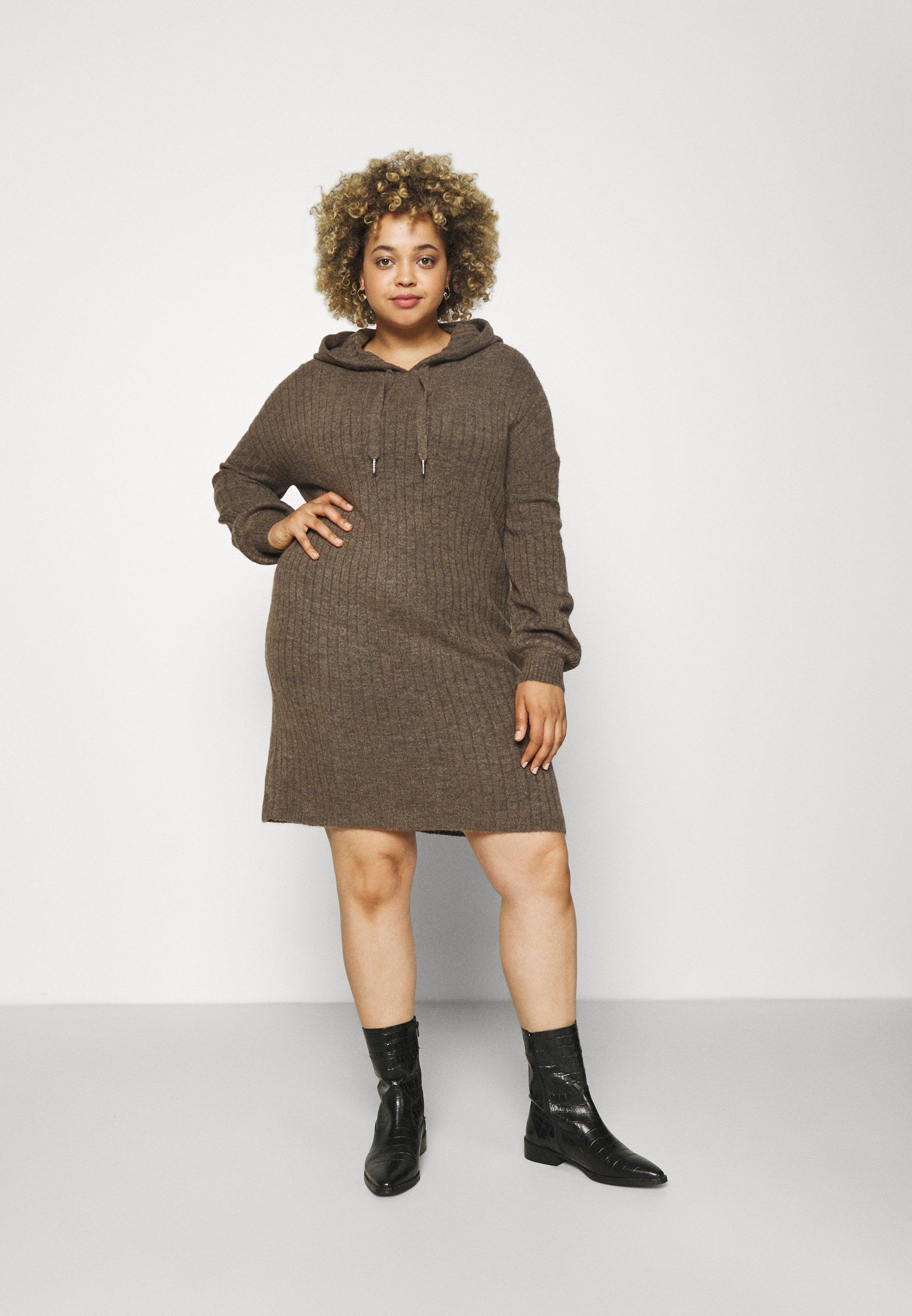 Mujer KARINNA HOOD DRESS - Vestido de punto