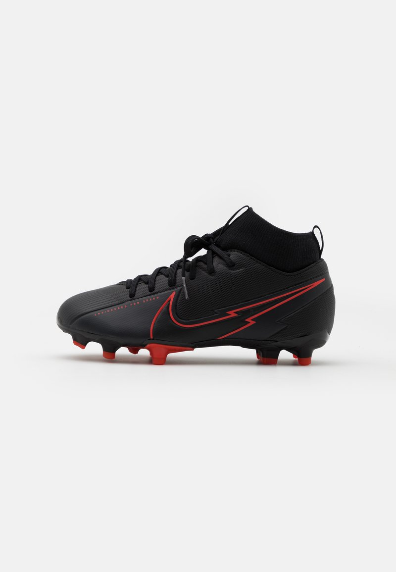 Nike Performance - MERCURIAL JR 7 ACADEMY FG/MG UNISEX - Korki Lanki - black/dark smoke grey