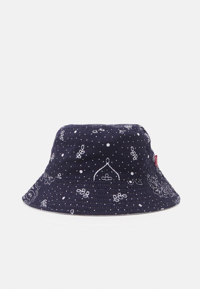 REVERSIBLE BANDANA BUCKET HAT UNISEX - Hoed - navy blue