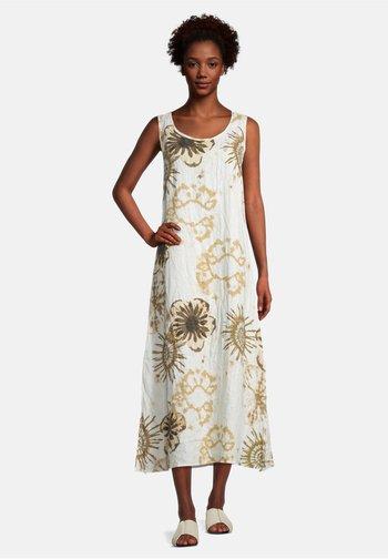 Day dress - white/camel
