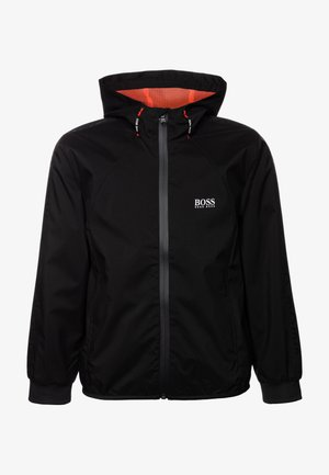 HOODED WINDBREAKER - Chaqueta de entretiempo - black