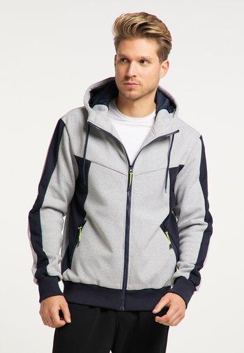 Zip-up hoodie - hellgrau marine