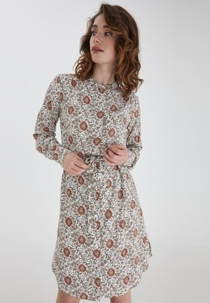 Shirt dress - red flower mix