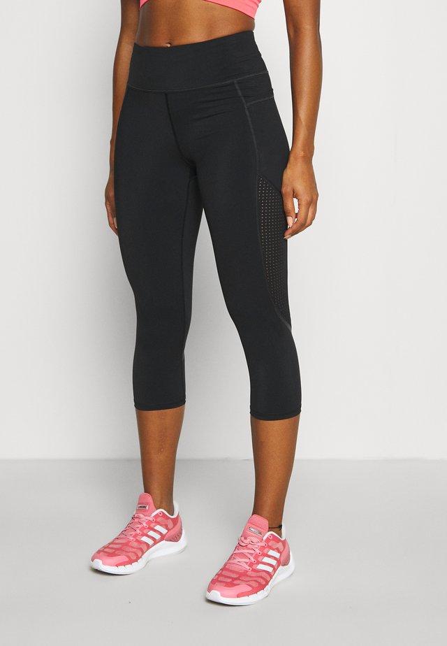 GRAVITY CROP RUN LEGGINGS - Collants - black
