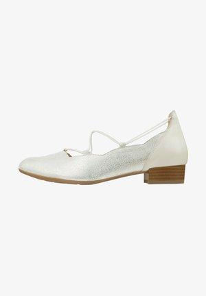 Ankle strap ballet pumps - weiß