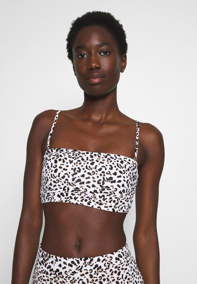MALAWI LONG BANDEAU - Top de bikini - white