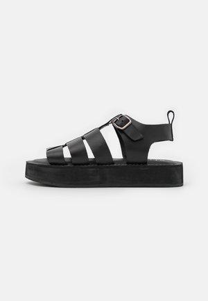 GEEK SHOE OPEN TOE - Platform sandals - black
