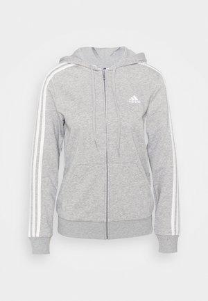 Sweatjacke - medium grey heather/white