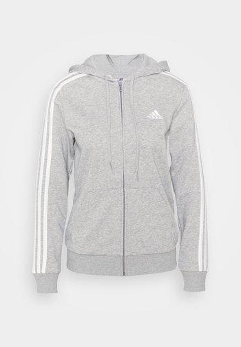 Sweatjakke - medium grey heather/white