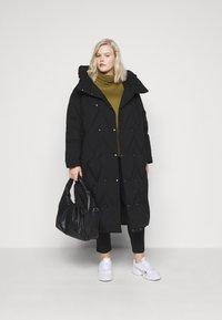 Vero Moda Curve - VMPUFFY LONG JACKET - Down coat - black - 1