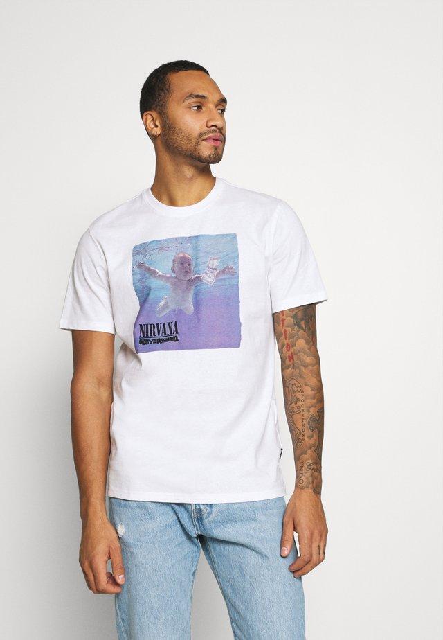 ONS NIRVANA - T-shirt imprimé - white