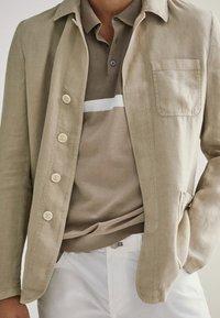 Massimo Dutti - KURZÄRMELIGER  - Polo shirt - beige - 5