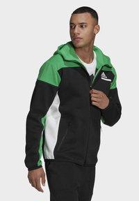adidas Performance - Z.N.E HOODIE PRIMEGREEN HOODED TRACK TOP - Zip-up hoodie - black - 2
