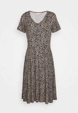 Žerzejové šaty - black/tapioca