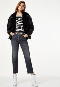 Liu Jo Jeans - LIU JO JEANS - Faux leather jacket - black - 1