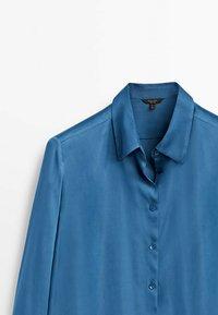 Massimo Dutti - FLIESSENDES  - Shirt - blue - 2