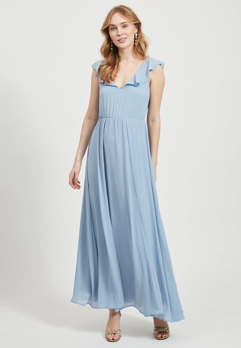 Vila - VIRANNSIL  - Vestito lungo - ashley blue