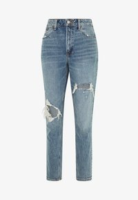 Abercrombie & Fitch - MED KNEE BLOWOUT CURVE - Slim fit jeans - med knee blowout - 5