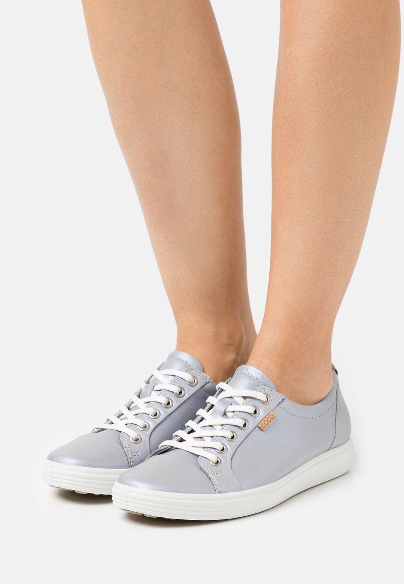 ECCO - SOFT - Baskets basses - silver grey metallic