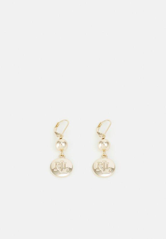 ENGRAVED DROP - Boucles d'oreilles - gold-coloured