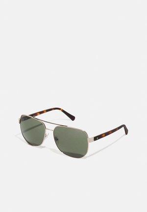 UNISEX - Sunglasses - gold-coloured/grün