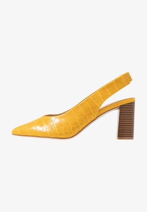 EMILY BLOCK HEEL SLINGBACK COURT - Klassiske pumps - yellow